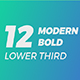 Modern Bold Lower Third - VideoHive Item for Sale