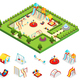 Isometric Kids Playground Concept - GraphicRiver Item for Sale