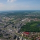 The Park Zone and the Lake in the Center of the City of Kaliningrad. View Quadcopter City . - VideoHive Item for Sale