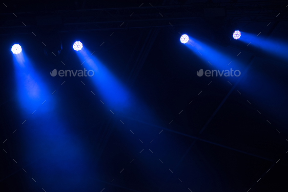 Blue stage lights - Stock Photo - Images