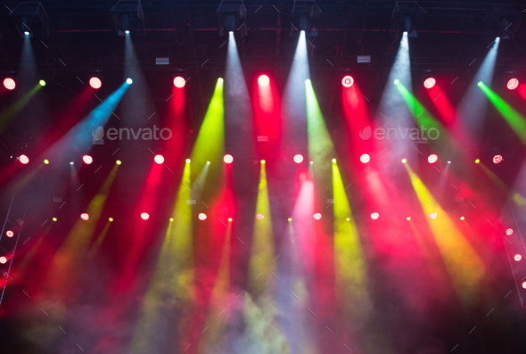 Colorful stage lights - Stock Photo - Images