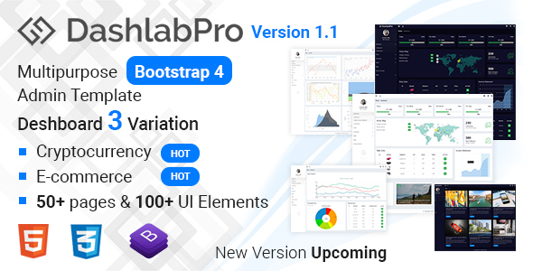 Image of Dashlabpro -  Multipurpose  Bootstrap 4 Admin Template