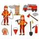 Firefighting Equipment Set - GraphicRiver Item for Sale