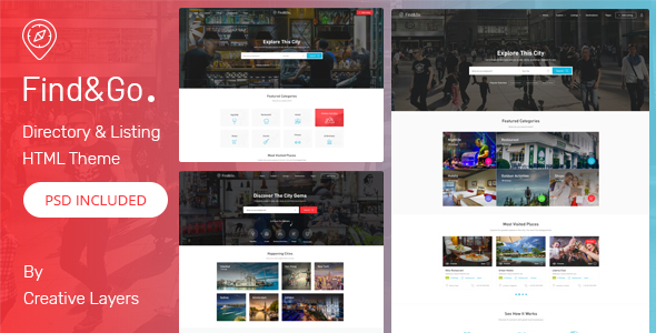 Image of FindGo - Directory & Listings HTML Template