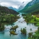 Lovatnet Lake Beautiful Nature Norway - VideoHive Item for Sale