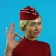 The Stewardess Shows That Everything Is in Order - VideoHive Item for Sale