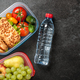 Lunch boxes with sandwiches, vegetables and fruits - PhotoDune Item for Sale