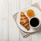 Breakfast with croissant, coffee and orange jam - PhotoDune Item for Sale