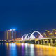 beautiful jiujiang night view of lake and bridge in new district, jiangxi, China - PhotoDune Item for Sale