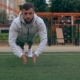 Man Is Clapping Between Push-ups - VideoHive Item for Sale