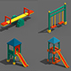Voxel Kids Playground Games - 3DOcean Item for Sale