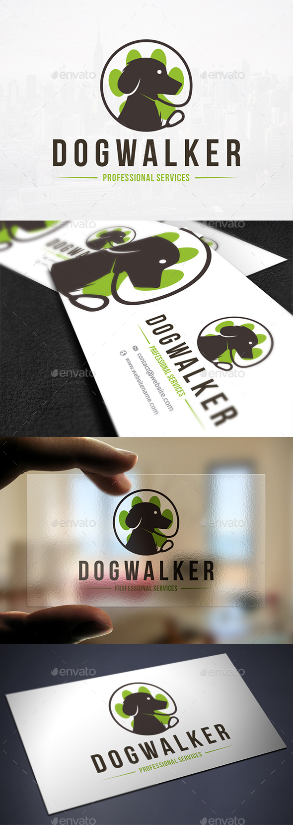Dog Walker Logo Template - Animals Logo Templates