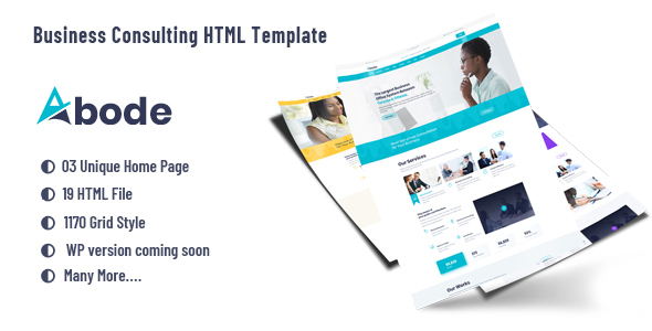 ABODE - Consulting, Finance, Business  HTML5 Bootstrap 4 Template