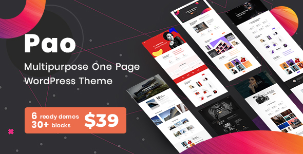 PAO - MultiPurpose One Page WordPress