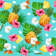 Summer Tropical Seamless Pattern With Fruits and Leaves Vector - GraphicRiver Item for Sale