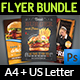 Restaurant Flyer Bundle Template Vol.2 - GraphicRiver Item for Sale