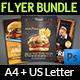 Restaurant Flyer Bundle Template Vol.2 - GraphicRiver Item for Sale