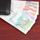 Money from Colombia in the black wallet  - PhotoDune Item for Sale