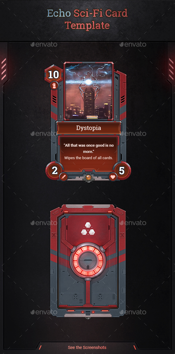 Echo Sci-Fi Card Template - Miscellaneous Game Assets