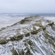 Amazing Aerial View of Snow-covering Sandy Mountains in Western Kazakhstan, Mangyshlak Peninsula - VideoHive Item for Sale