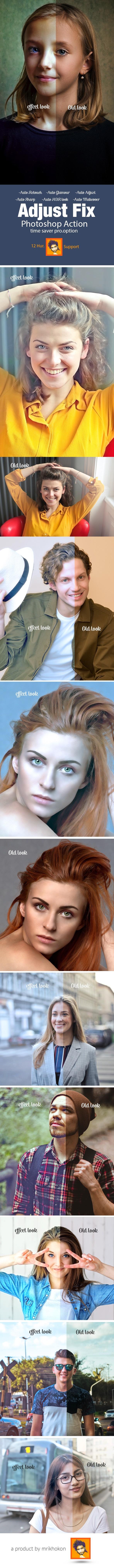 Adjust Fix Photoshop Action - Photo Effects Actions