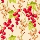 Seamless Pattern White and Red Currant Berries