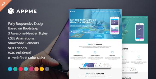 AppMe - App Landing Page WordPress Theme - Software Technology