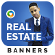 Real Estate Agent Web Banner Set - 3 Color Variations