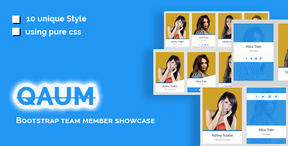 Qaum - Bootstrap Team Member Showcase - CodeCanyon Item for Sale