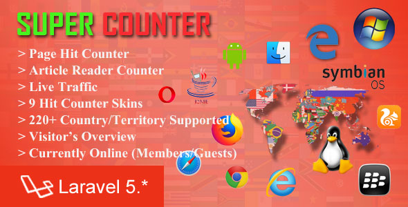 Super Counter - Laravel Page and Article Hit Counter - CodeCanyon Item for Sale
