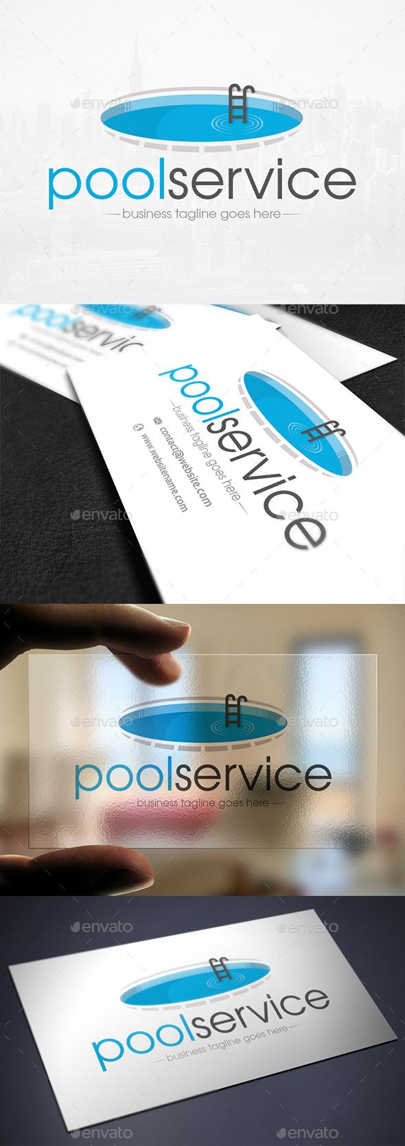 Blue Pool Logo Template - Company Logo Templates