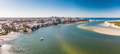 Aerial drone view of Pumicestone Passage, Bribie Island and Calo - PhotoDune Item for Sale