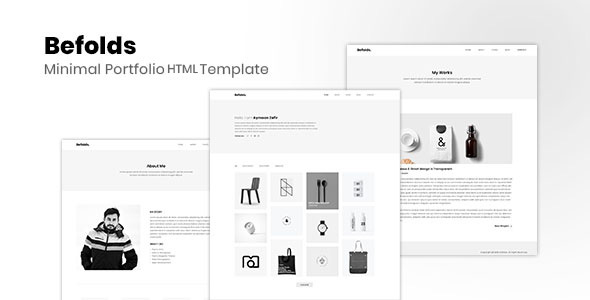 Befolds – Minimal Portfolio Template