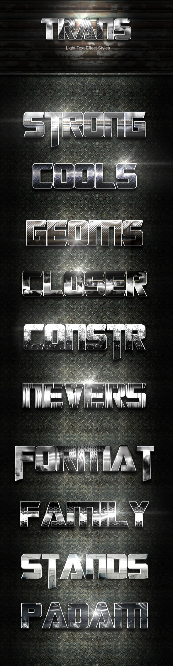 Trans Steel Text Effect V02