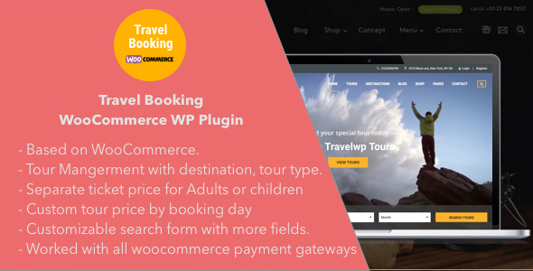 Travel Booking - Travel Booking WooCommerce WordPress Plugin            Nulled