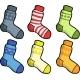 Doodle Set of Socks - GraphicRiver Item for Sale