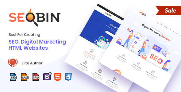 SeoBin | Digital Marketing Agency, SEO HTML Template - Business Corporate