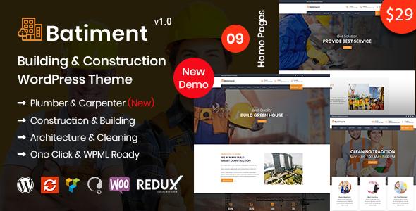 Batiment - Building & Construction WordPress Theme - Business Corporate