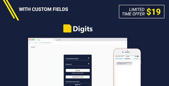 Digits : WordPress Mobile Number Signup and Login - CodeCanyon Item for Sale