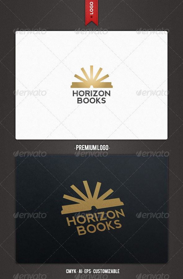 Horizon Books Logo Template