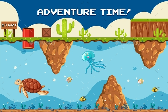 Adventure Game Underwater Theme At Start Point - Landscapes Nature
