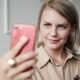 Elegant, Beautiful Modern Woman Doing Selfies on Smartphone in Office, Female with Perfect - VideoHive Item for Sale