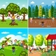 Set Of Children Playing Scenes - GraphicRiver Item for Sale