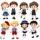 Boys And Girls In Costumes - GraphicRiver Item for Sale