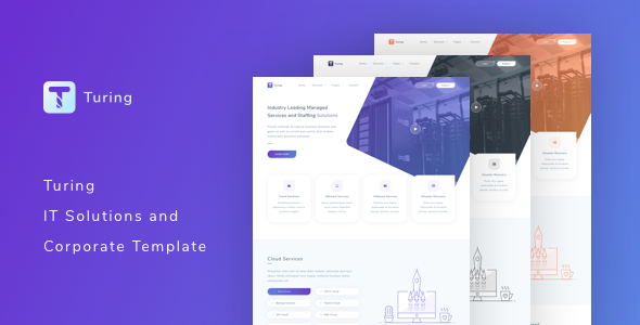 Turing It Solutions And Corporate Template By Tempload Themeforest