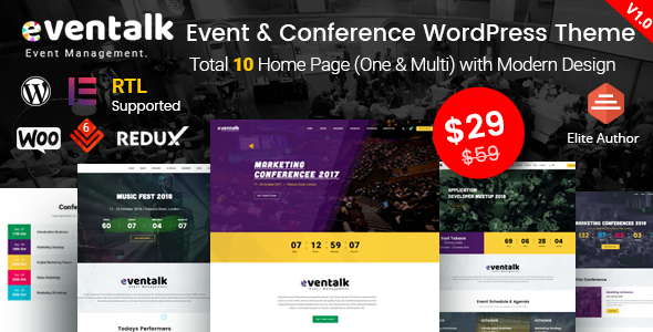 EvenTalk - Event Conference WordPress Theme for Event and Conference - Events Entertainment