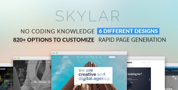 Skylar - Fast, Optimized & Highly Customizable Multi-Purpose WordPress Theme