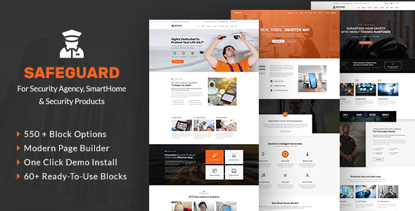 Safeguard - Security Services WordPress - Business Corporate