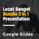 Lezat Banget Bundle 3 In 1 Google Slides - GraphicRiver Item for Sale