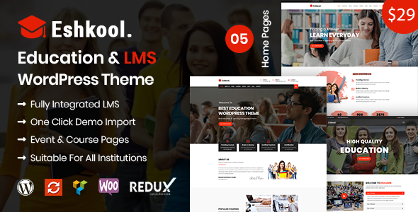 Image of Eshkool - Education & LMS WordPress Theme